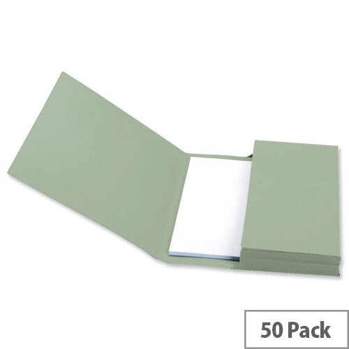 Document Wallet Foolscap Green Pack 50 5 Star