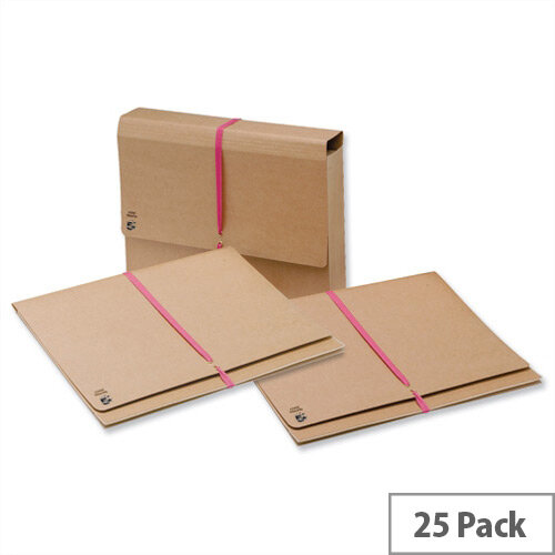 5 Star Legal Wallet Foolscap Gusset with Tie Tape 76mm Pack of 25