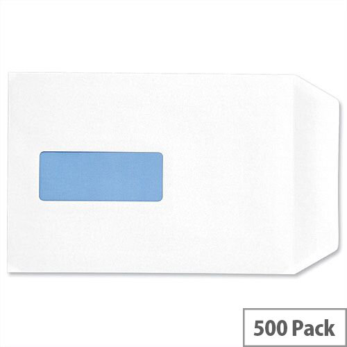 C5 White Window Envelopes 100gsm Pocket Peel and Seal Pack 500 5 Star