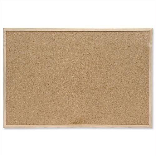 Cork Notice board 600 x 400 mm Pine Frame 5 Star
