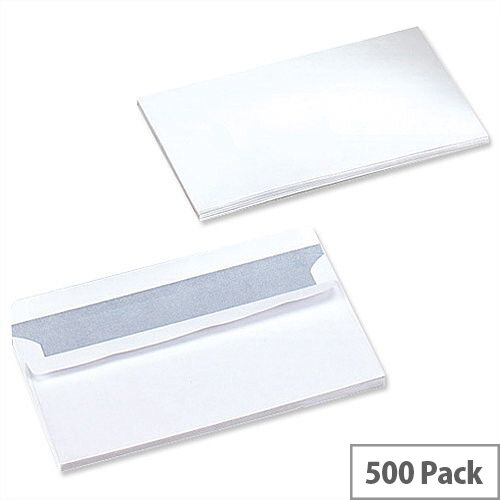 5 Star Office White DL Envelopes Self Seal Wallet 90gsm Pack of 500