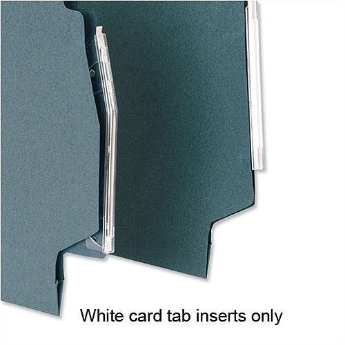 Card Inserts for 5 Star Lateral File Tabs White Pack 50 Ref 100331407