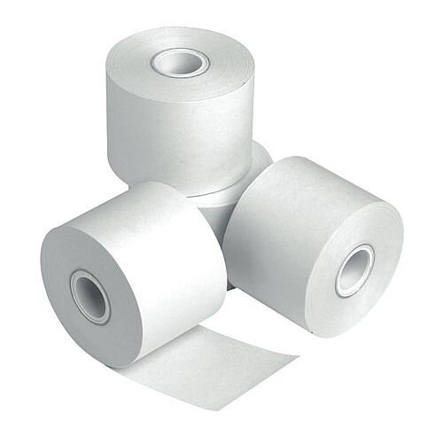 Prestige Credit Card Rolls 2-Ply Carbonless 57mmx55mmx12.7mm White (Pack of 20)