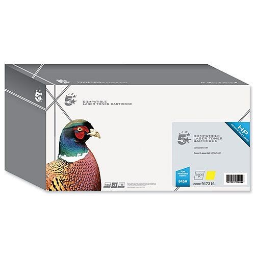 HP 645A Compatible Yellow Laser Toner C9732A 5 Star