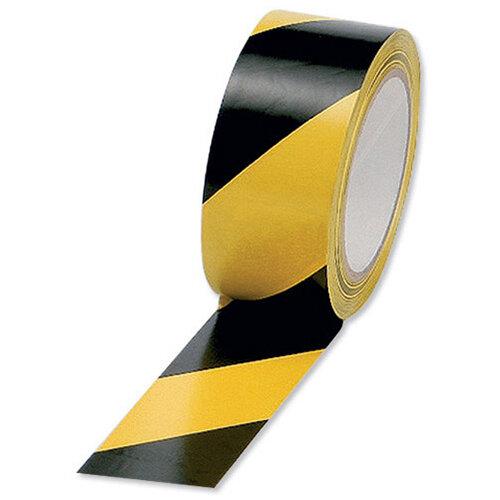 50mm x 33m Black/Yellow Hazard Floor Tape HWT50YB