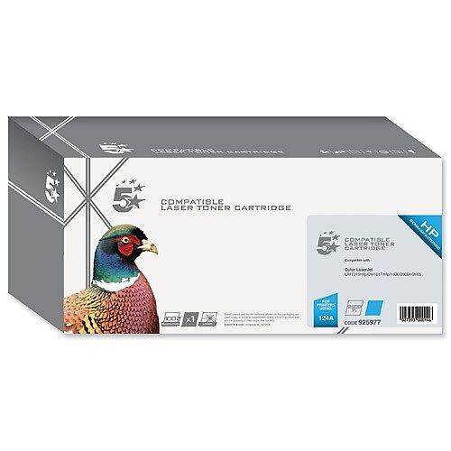 HP 124A Compatible Cyan Toner Cartridge Q6001A 5 Star