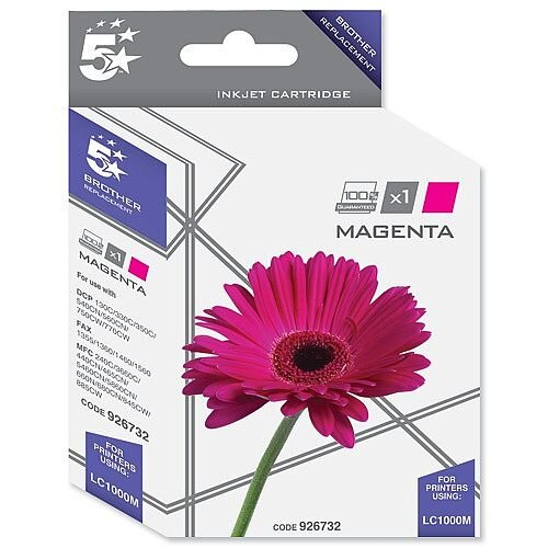Brother LC-1000M Compatible Magenta Ink Cartridge 5 Star LC1000M