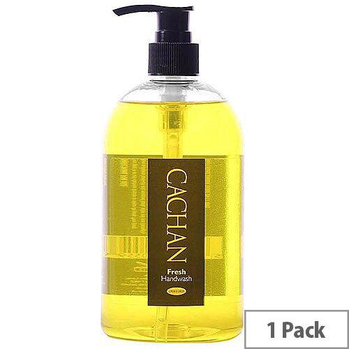 Cachan Liquid Hand Soap Handwash Lemon &Ginger Fragrance 500ml (Pack 1)