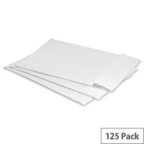 5 Star C4 Gusset Window Envelopes Manilla Peel and Seal 120gsm Pack of 125
