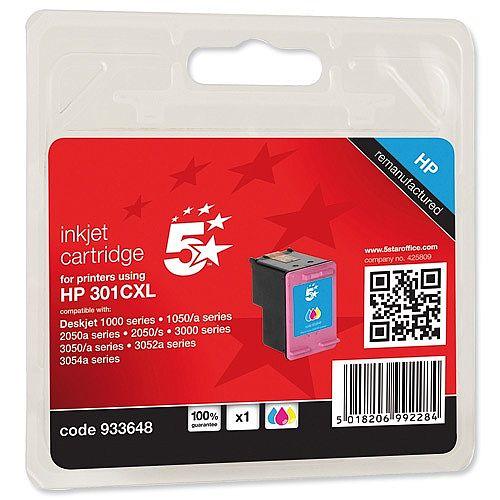 HP 301XL Compatible Tri-Colour Ink Cartridges CH564EE 5 Star