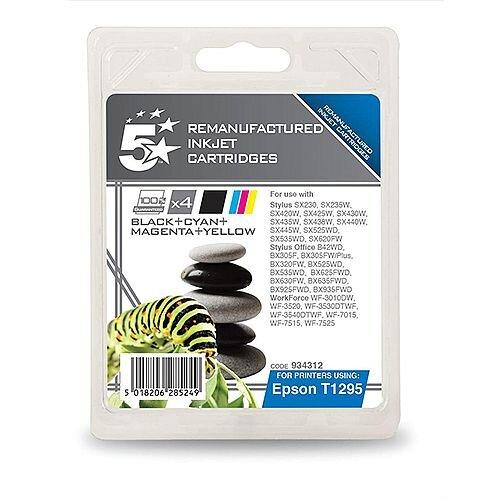 Epson T1295 Compatible 4-Colour Apple Series Ink Cartridge 5 Star C13T12954010