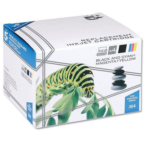 HP 364 Compatible 4 Colour Value Pack Ink Cartridges SD534EE 5 Star
