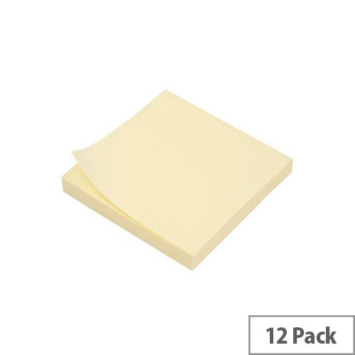 5 Star Extra Sticky Re-Move Notes Neon Pad of 90 Sheets 76x76mm Yellow [Pack 12]