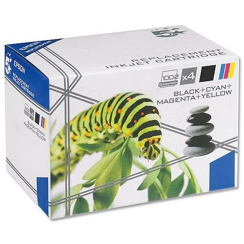 Epson T1806 Compatible 4 Colours Daisy Series Inkjet Cartridges 5 Star C13T18064010 [Pack 4]
