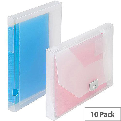 5 Star Office  A4  Document Box Polypropylene 30mm Clear  Pack 10
