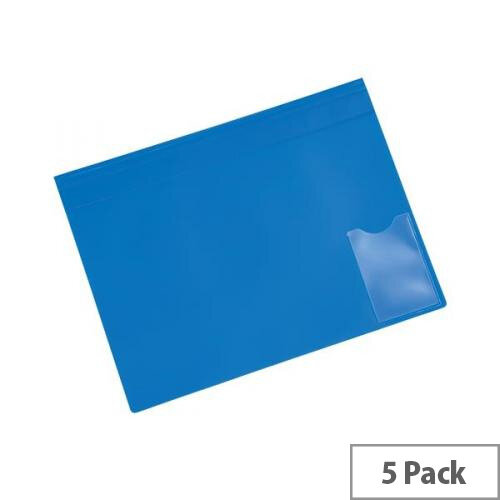5 Star Office Executive Flat File Semi-rigid Opaque Cover A4 Blue Capacity 150 Sheets  Pack 5