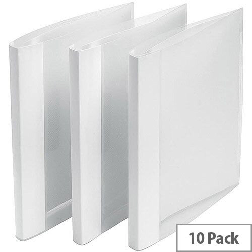 5 Star Office Clamp Binder Polypropylene Clear Pack 10