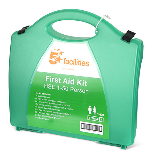 5 Star Traditional Green Box HS3 First-Aid Kit 1-50 Person