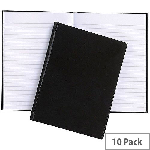 5 Star Office Manuscript Book Casebound Feint Ruled 192pp A6  Pack 10