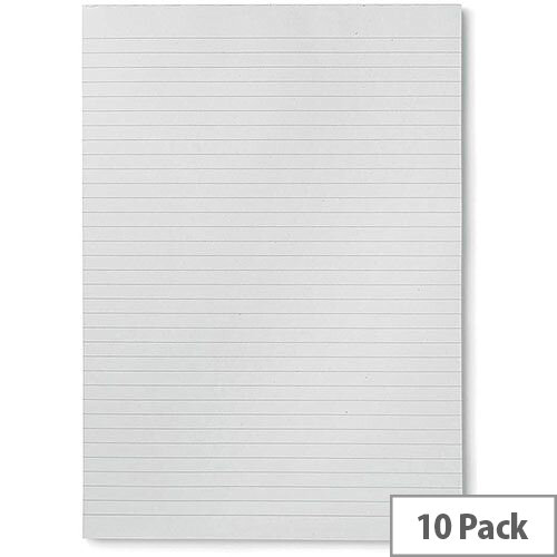 5 Star Eco  A4  Recycled Memo Pad Ruled  Pack 10