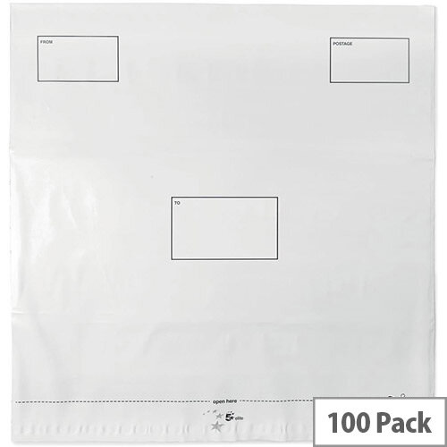 5 Star Elite DX Bags Self Seal Waterproof 475x440mm White  Pack 100