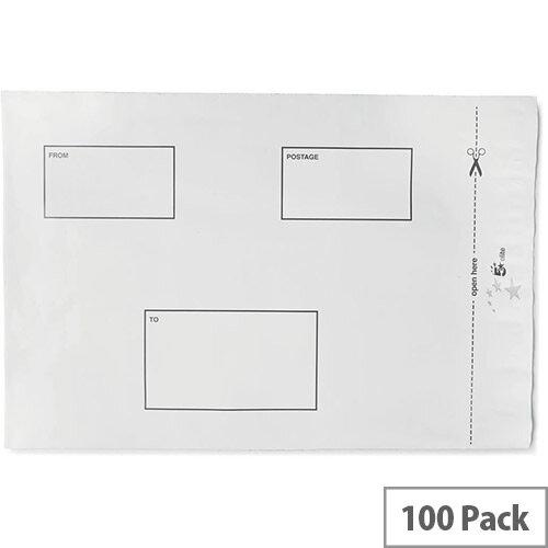 5 Star Elite DX Bags Self Seal Waterproof 250x320mm White  Pack 100