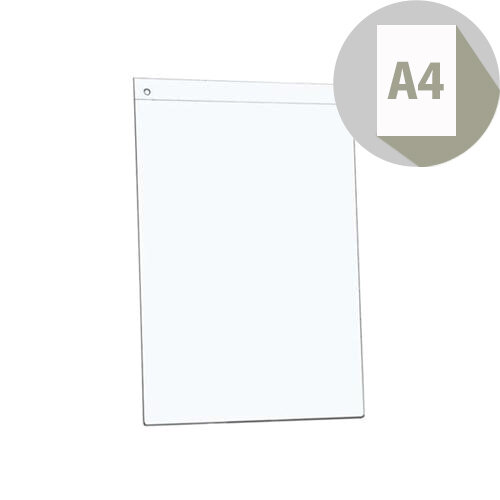 Office Sign Holder Acrylic Wall Display Portrait A4 Clear 5 Star. Ideal For Home Offices, Businesses Or General Information Displays.
