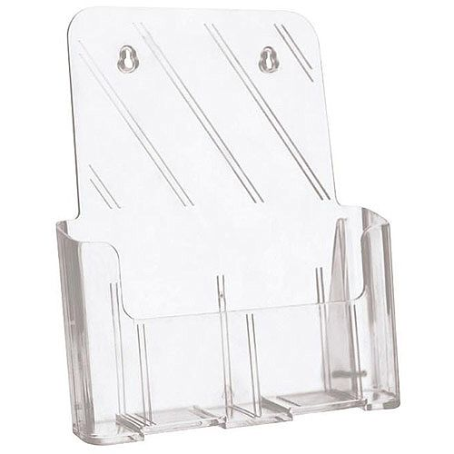 5 Star A4 Literature Holder For Desktop Use Or Optional Wall Mounting. Brochure Holder Is Slanted &Clear. Ideal For Use In Receptions, Tourist Offices, Restaurants &More.