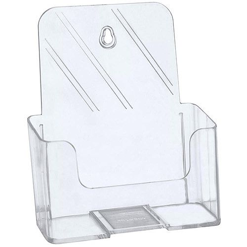 5 Star A5 Literature Holder For Desktop Use Or Optional Wall Mounting. Brochure Holder Is Slanted &Clear. Ideal For Use In Receptions, Tourist Offices, Restaurants &More.