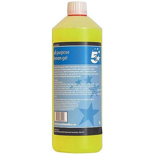 5 Star Facilities All Purpose Lemon Cleanind Gel 1 Litre