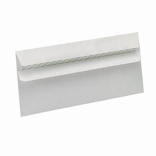 5 Star Eco DL Envelopes Recycled Wallet Self Seal 90gsm White Pack of 500