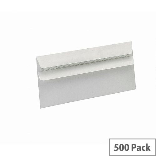5 Star Eco DL Envelopes Recycled Wallet Self Seal Window 90gsm White Pack of 500