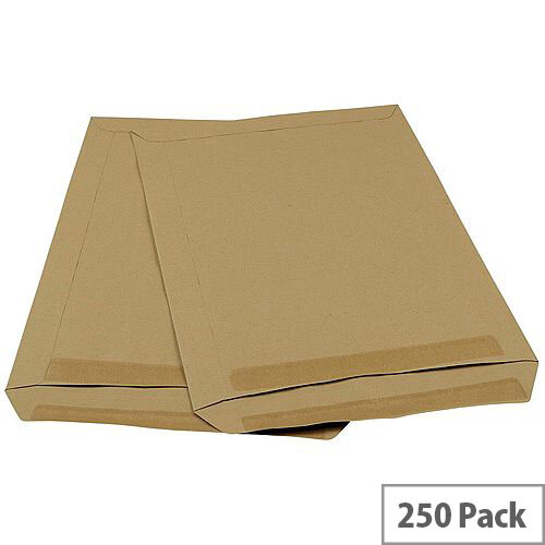 5 Star Office C4 90g/m2 Mediumweight Self Seal Pocket Window Envelopes Manilla Pack of 250