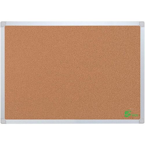 5 Star Eco Cork Board with Wall Fixing Kit ALuminium Frame W 900 x H 600 mm