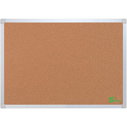 5 Star Eco Cork Board with Wall Fixing Kit Aluminium Frame W 1200 x H 900 mm