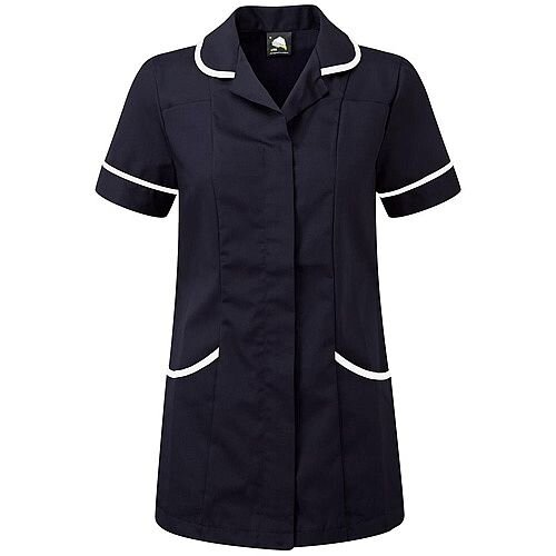 5 Star Facilities Ladies Tunic Concealed Zip Size 14 Navy/White