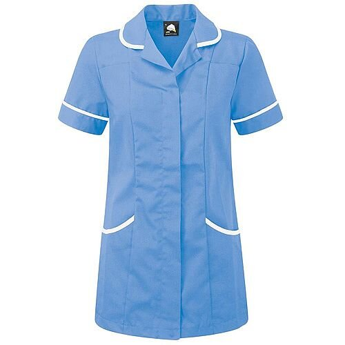 5 Star Facilities Ladies Tunic Concealed Zip Size 22 Hospital Blue/White