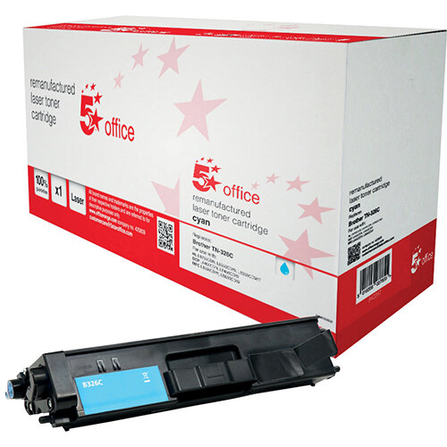 5 Star Office Remanufactured Laser Toner Cartridge Page Life 3500 Pages Cyan Brother TN326C Alternative Ref 942267