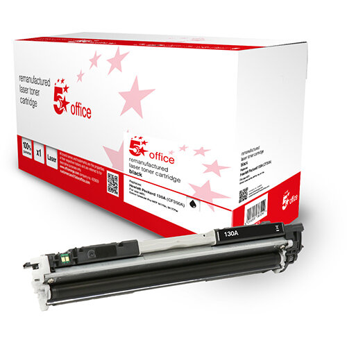 5 Star Office Remanufactured Toner Cartridge Page Life Black 1300pp [HP 130A CF350A Alternative]