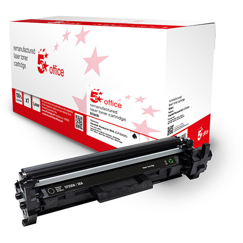 5 Star Office Remanufactured Toner Cartridge Page Life Black 1600pp [HP 30A CF230A Alternative]
