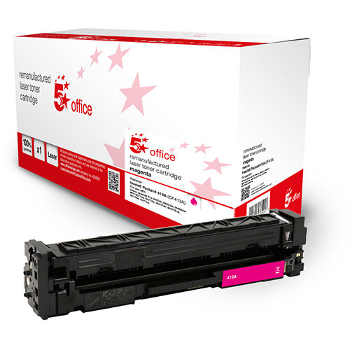 5 Star Office Remanufactured Toner Cartridge Page Life Magenta 2300pp [HP 410A CF413A Alternative]