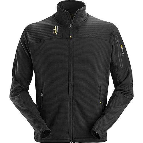Snickers Body Mapping Micro Fleece Jacket Size S WW9 Black