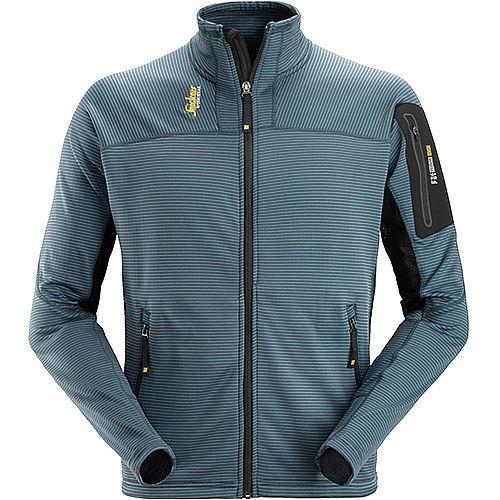 Snickers Body Mapping Micro Fleece Jacket Size L WW9 Petrol Black
