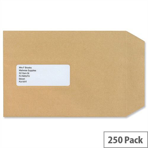 New Guardian C5 Window Manilla 130gsm Envelopes Self Seal Pocket Pack 250 Ref A23013