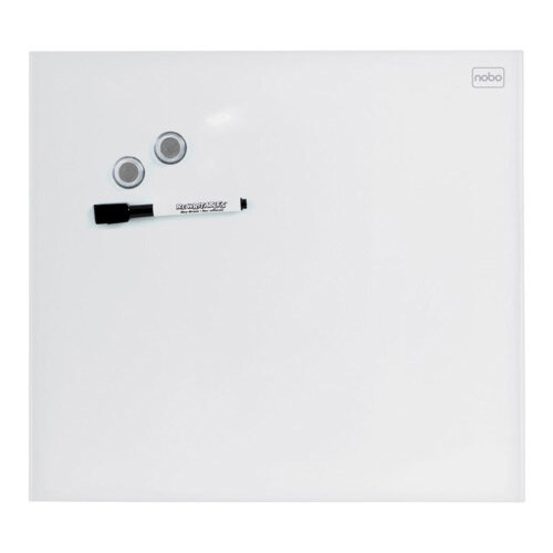 Nobo Diamond Glass Magnetic Whiteboard - Retail Pack 300x300mm White