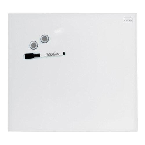 Nobo Diamond Glass Magnetic Whiteboard - Retail Pack 450x450mm White