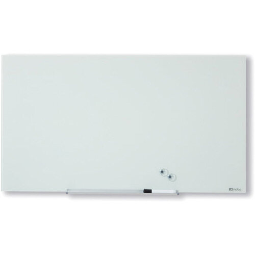Nobo Diamond Glass Magnetic Whiteboard 677x381mm White
