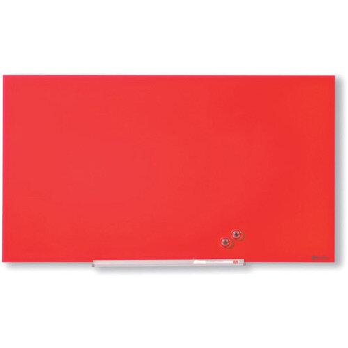 Nobo Diamond Glass Magnetic Whiteboard 1264x711mm Red