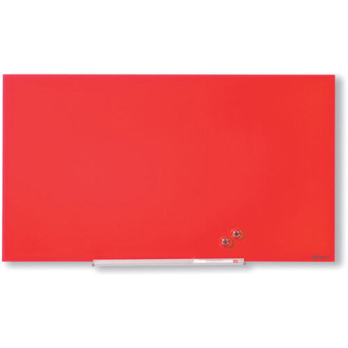 Nobo Diamond Glass Magnetic Whiteboard 1883x1059mm Red