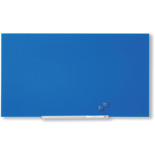 Nobo Diamond Glass Magnetic Whiteboard 677x381mm Blue